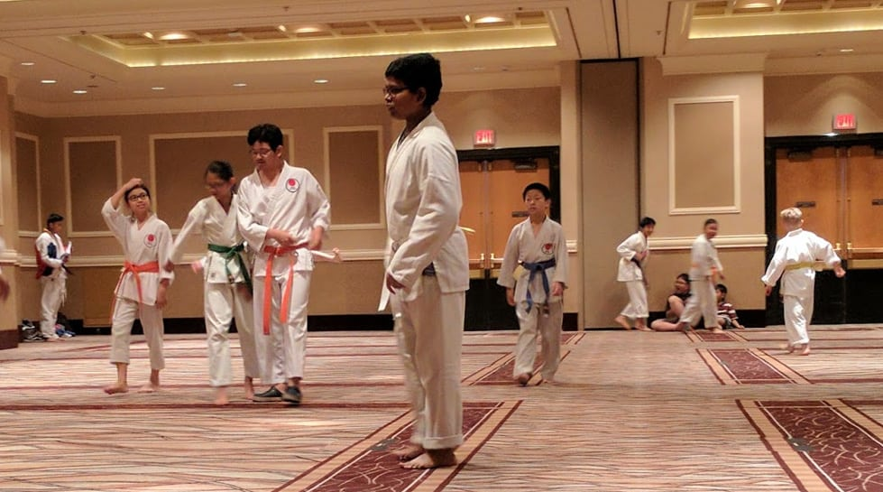 karate tournament warm up